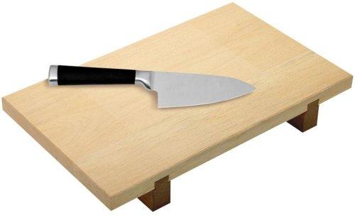 Fackelmann 02931 Sushi-Brett / Schneidbrett mit Asia-Messer