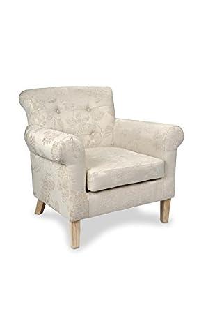 Shankar Pittsburgh Fleur Cream Fabric Armchair