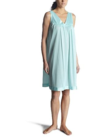 Vanity Fair Womens Coloratura  Short Gown, Azure Mist, Small