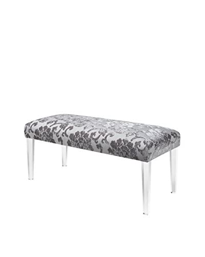 Jennifer Taylor Home Addison Acrylic Leg Bench, Grey