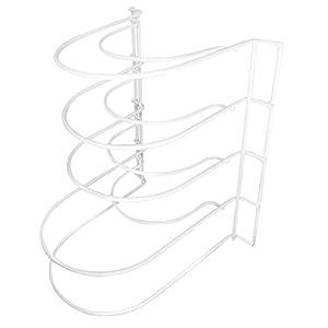 Evelots Metal Pot Storage Organizing Rack, Kitchen Supplies, 5 Pan Shelf Space
