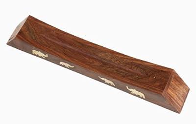 Weihnachten Geschenke Handmade Braun Holz Rectangle Räucherstäbchen Storage Box Halter Burner Mit Inlay Startseite Aroma Zubehör