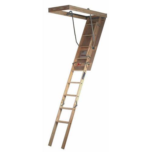 Cheap Attic Ladders Louisville Ladder Adj Wd Attic Ladder