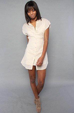 Jack BB Dakota The Gibson Dress in Whitecap Beige,Dresses for Women