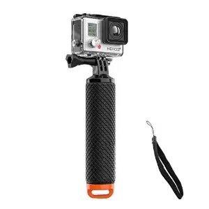 Welltop impermeabile-Supporto per treppiede per GoPro Hero 3 +, a &-Impugnatura galleggiante con vite e polsino regolabile per GoPro Hero 2/3/3/4-Action Camera accessori montaggio
