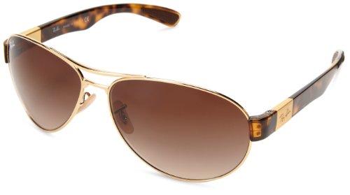 Ray-Ban mens 0RB3509 001/1363 Pilot Sunglasses,Arista,63 mm