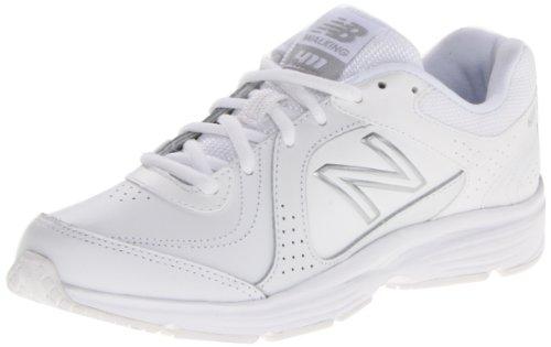New Balance Women'S Ww411 Health Walking Shoe,White,12 B Us