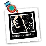 Congratulations on Your Boob Job, Black Dress on Dot Design - 18x18 Inch Quilt Square