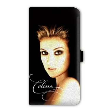 Cokitec Leather flip case Samsung Galaxy Note 4 People - - Celine Dion Noir -