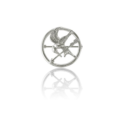 Sterling Silver The Hunger Games-Inspired Mockingjay Pin (Quarter-sized)