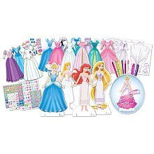 Disney Princess Deluxe Dress Up Paper Doll Activity Set by Tara Toy Corp. (English Manual)