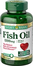 Nature\'s Bounty Fish Oil 1200mg, 120 Softgels (Pack of 3)
