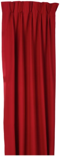 Fireside Pinch Pleated 72-Inch-by-84-Inch Thermal Insulated Drapes, Red