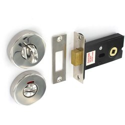polished s s bathroom door thumb turn lock deadbolt diy