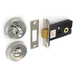 Polished S S Bathroom Door Thumb Turn Lock Deadbolt