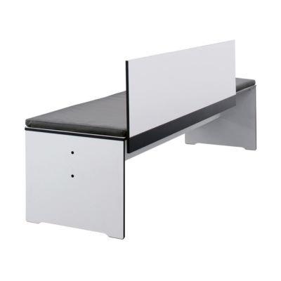Riva Bank 216 cm mit Lehne - weiß