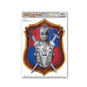 Knight's Armor Display Peel 'N Place Party Accessory (1 count) (1/Sh)