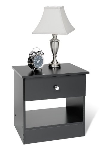 Cheap prepac black night stand 1 drawer nightstands for Night stand cost
