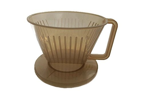 Plastic Coffee Maker Filter Cone,Plastic Coffee Dripper, size 9.5 CM, Brown (Yama Kettle compare prices)