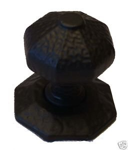 Large Rustic Centre Door Knob,Handle Black Cast Iron by OriginalForgery
