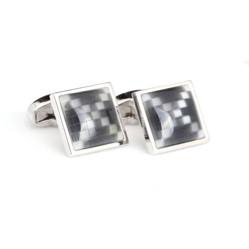 Digabi Men's Jewelry Silver Plated Black and
