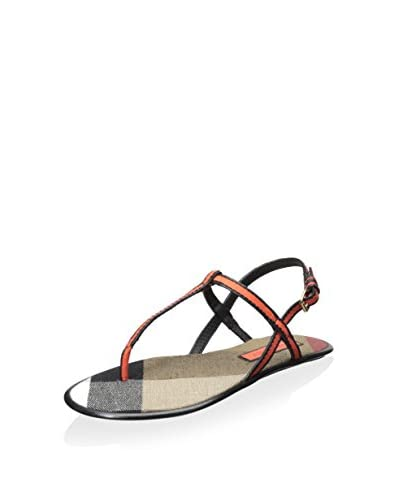 Burberry Women's Canvas Check and Leather Sandal
