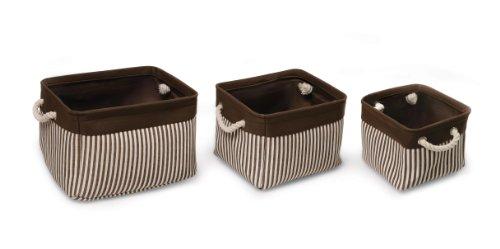 Badger Basket Nesting Square Basket Set, Espresso, 3 Count