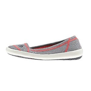 Adidas Boat Slip-On Sleek Shoe - Women's Mid Grey / Dark Grey / Flash Red 7.5
