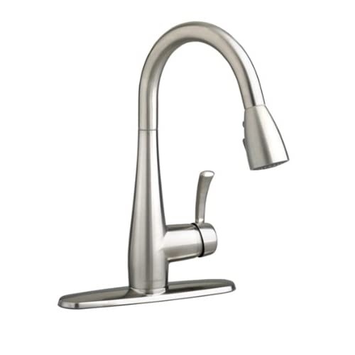 Cyber Monday Deals American Standard 4433.300.075 Quince High-Arc Pull-Down Single Lever Handle Kitchen Faucet, Stainless Steel