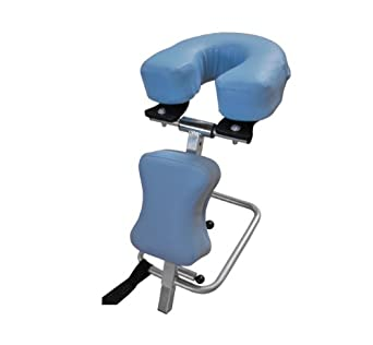 "3B Scientific W15056LB Light Blue Stainless Steel Adjustable Headrest, 11.8"" Length x 15.7"" Width x 9.4"" Height"
