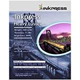 Inkpress HL172220 Heavy Luster 300 GSM 12 Mil 94% Bright 1 Side 17x22in 20