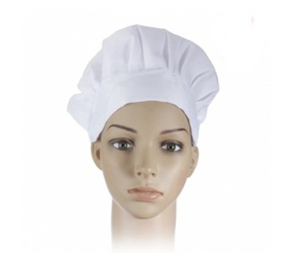Adult Elastic White Chef Hat Baker BBQ Kitchen Cooking Hat Costume Cap