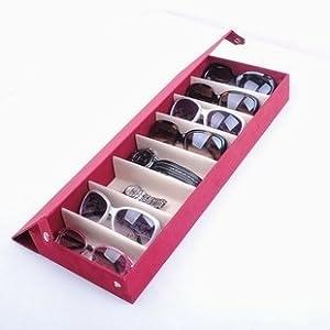 メガネ サングラス 収納 コレクション ケース 8本収納