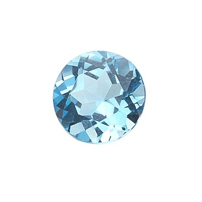 1.50 Cts of AAA 7 mm Round Loose Swiss Blue Topaz