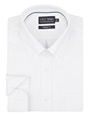2in Longer Pure Cotton Quick Iron Oxford Weave Shirt