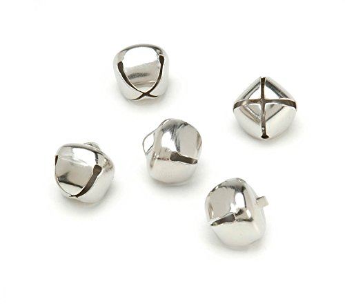 Darice 1099-19 36-Piece Jingle Bells, 5/8 Inch, Silver