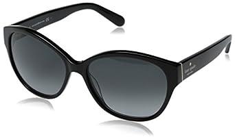 Kate Spade Women's Kiersten Oval Sunglasses,Black,55 mm