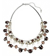 M&S Collection Assorted Bead Multi-Row Caged Necklace