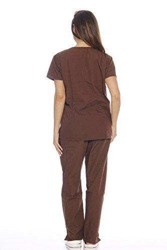 22256V-L Chocolate Just Love Women's Scrub Sets / Medical Scrubs / Nursing Sc...