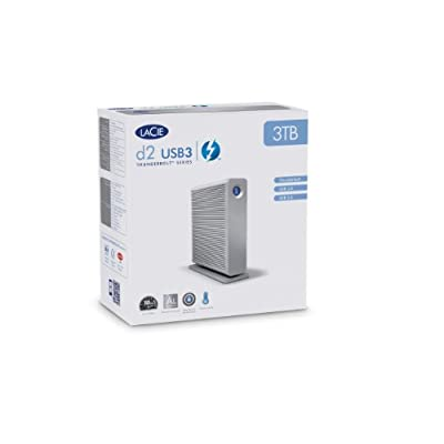 LaCie-3 TB / Thunderbolt & USB 3.0 7200RPM with cable Silver