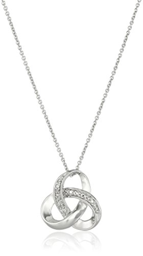 """Sterling Silver Diamond Accent Knot Pendant Necklace , 18"""""""