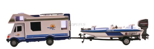Class C RV & Speed Boat Toy