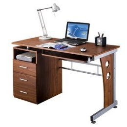 Buy Low Price Comfortable Mad Tech 30×22.75×47.25 Mahogany Mdf Panel & Steel Frame Computer Office Desk Table (B004W0MI7C)
