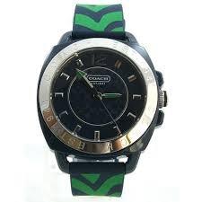 Coach Womens Navy Boyfriend Silicone Rubber Zebra Strap Watch 14501624