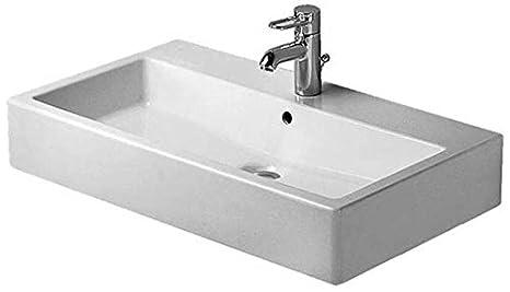 Duravit Vero Basin 700 mm, 3 Faucet Holes, Black with Wondergliss Coating, 04547008301