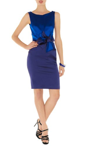 Colorblocked Stretch Satin Dress