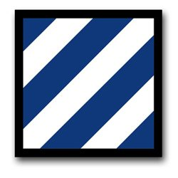 """: US Army 3rd Infantry Division Patch Decal Sticker 3.8"""": Automotive"""