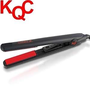 "KQC Turbo 2 Tourmaline / Ceramic Flat Iron (1"" inch) (Free Iron Stand + Iron Pouch)"