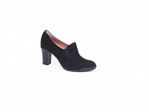 Donna Serena scarpe donna accollata in camoscio colore nero tacco medio