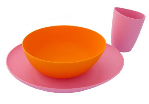 Bpa-free Fantastic Dishes Set Pink/orange